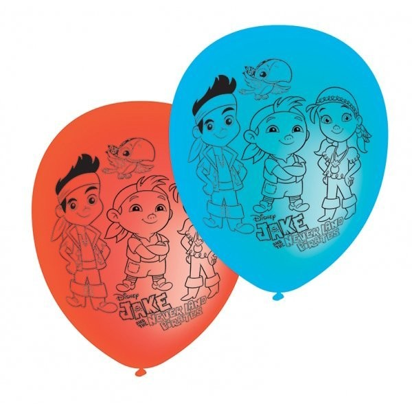 Amscan Jake & The Neverland Pirates Latex Balloons - Assorted