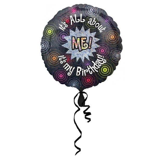 Anagram 18 Inch Circle Foil Balloon - All About Me Birthday