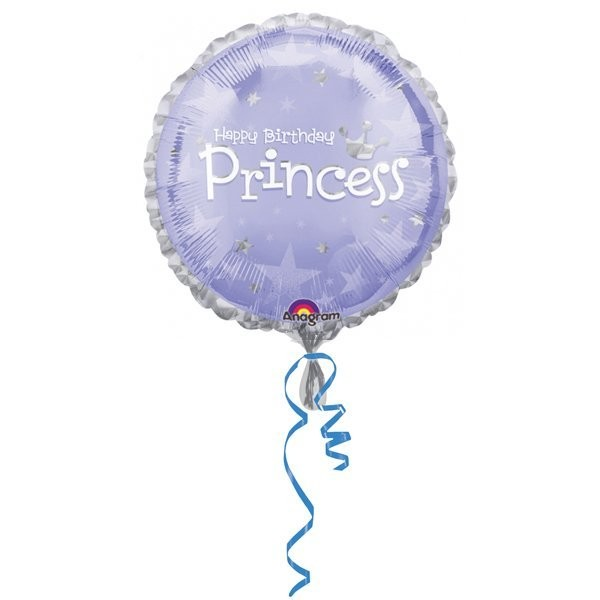 Anagram 18 Inch Circle Foil Balloon - Express Yourself Princess Birthday