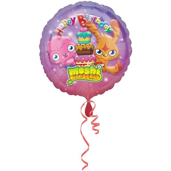 Anagram 18 Inch Circle Foil Balloon - Moshi Monsters Happy Birthday