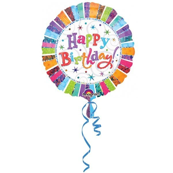 Anagram 18 Inch Circle Foil Balloon - Radiant Birthday