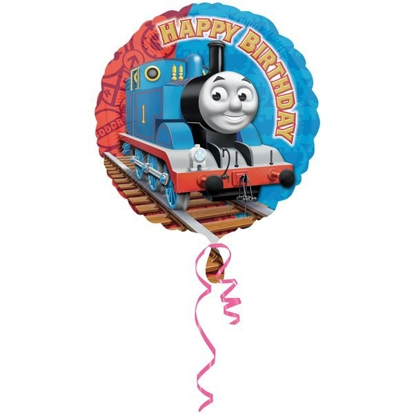 Anagram 18 Inch Circle Foil Balloon - Thomas & Friends Happy Birthday