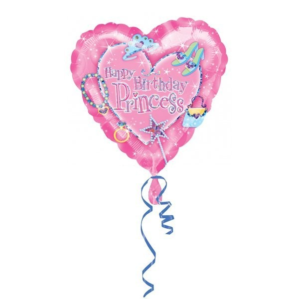 Anagram 18 Inch Heart Foil Balloon - Princess
