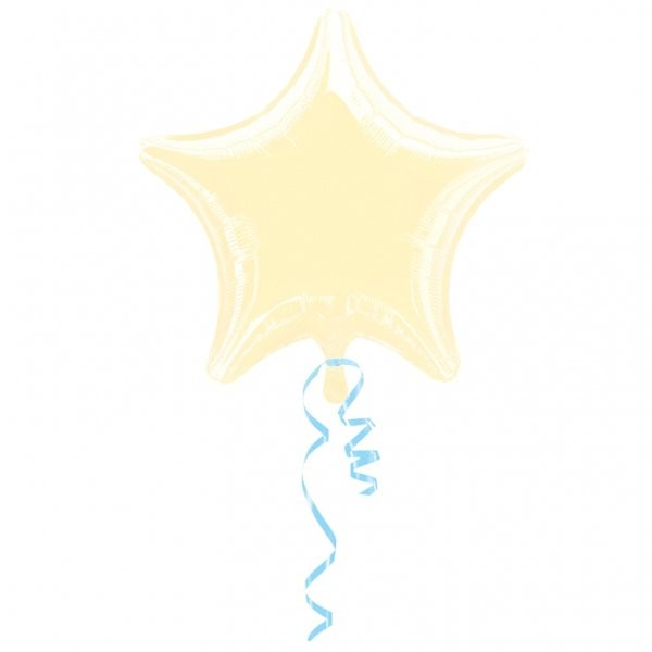 Anagram 4 Inch Star Foil Balloon - Ivory