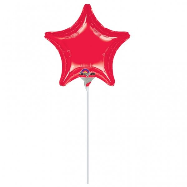 Anagram 4 Inch Star Foil Balloon - Red