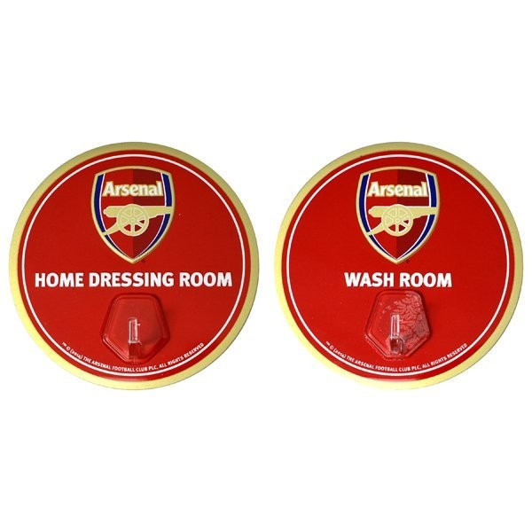 Arsenal 2PK Sign With Hanging Hooks