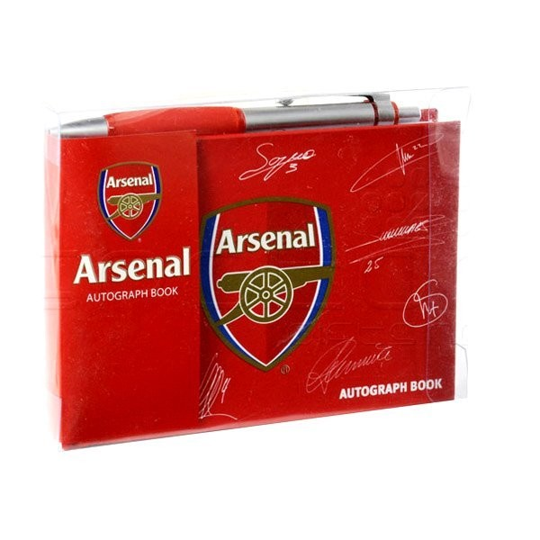 Arsenal Autograph Book & Pen Set