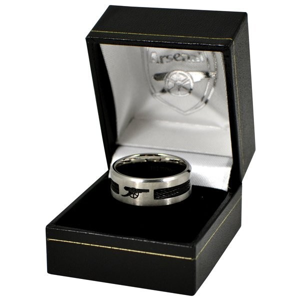 Arsenal Black Inlay Ring - Small