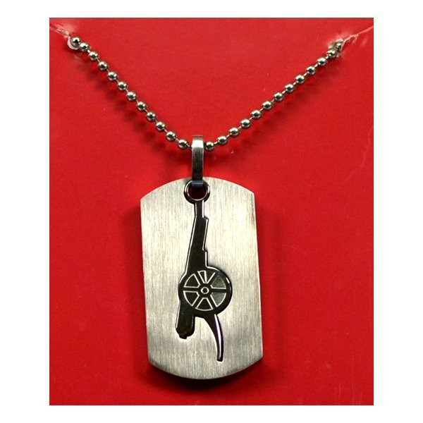 Arsenal Cut Out Dog Tag & Chain
