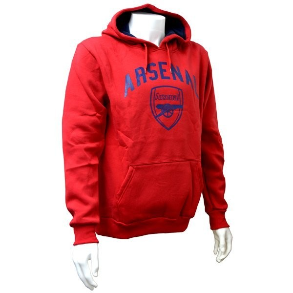 Arsenal Red Crest Mens Hoody - L