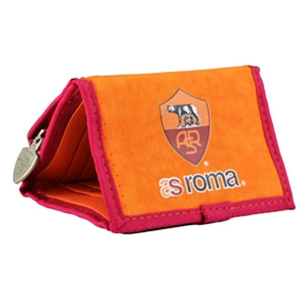 AS Roma Wallet with Zip - Orange