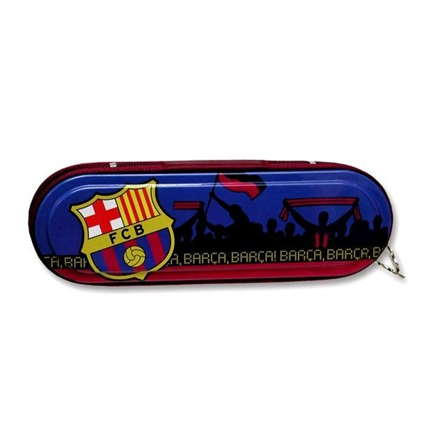Barcelona Metal Pencil Case - Blue