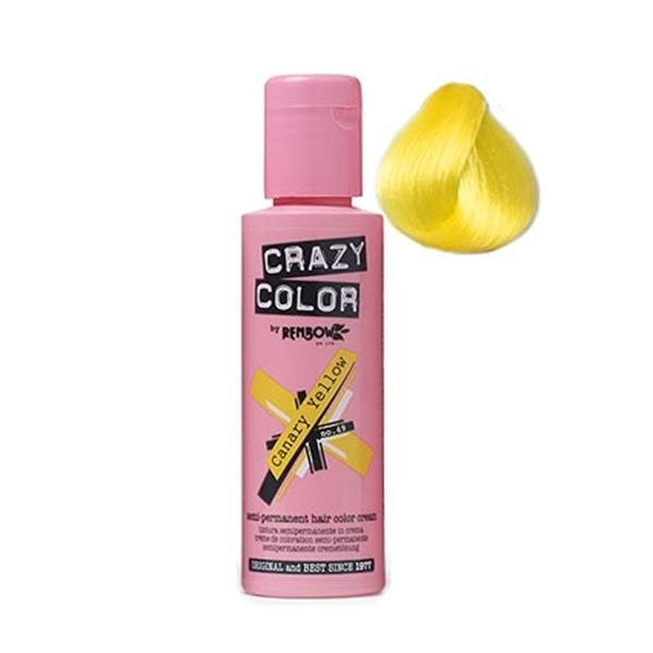 Crazy Colour Hair Dye Canary Yellow