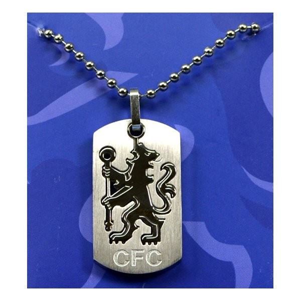 Chelsea Cut Out Dog Tag & Chain