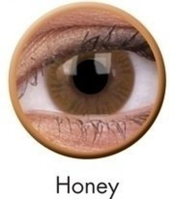 ColourVUE Honey Basic Coloured Contact Lenses (90 Day)