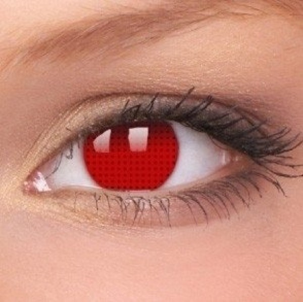 Red Screen Coloured Contact Lenses (1 Year)