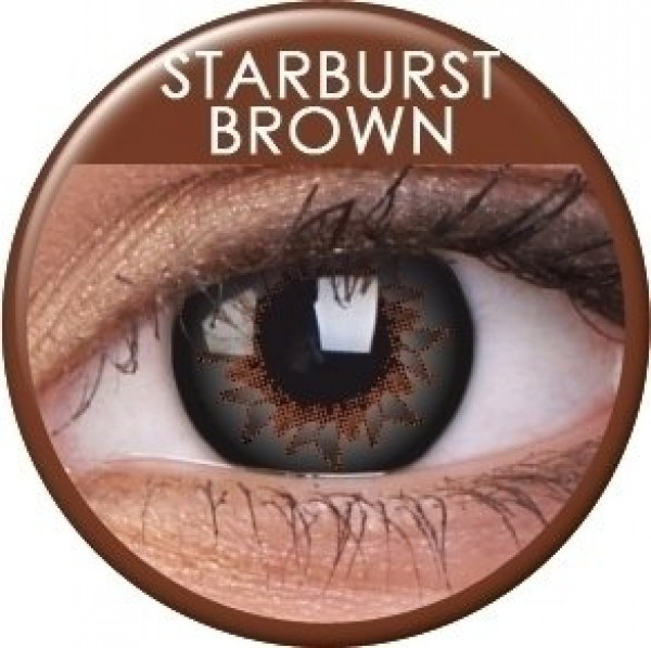 ColourVUE Starburst Brown Coloured Contact Lenses (90 Day)