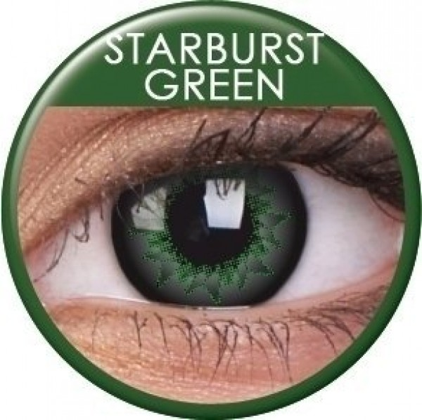 ColourVUE Starburst Green Coloured Contact Lenses (90 Day)