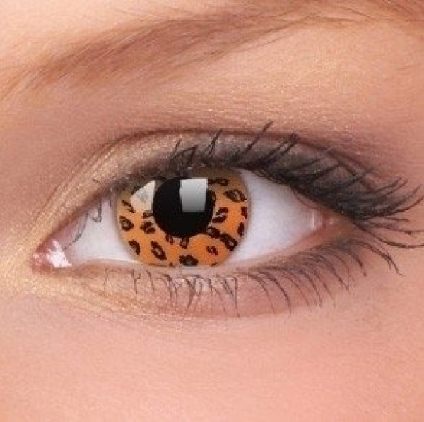 Yellow Leopard Crazy Contact Lenses (1 Year)