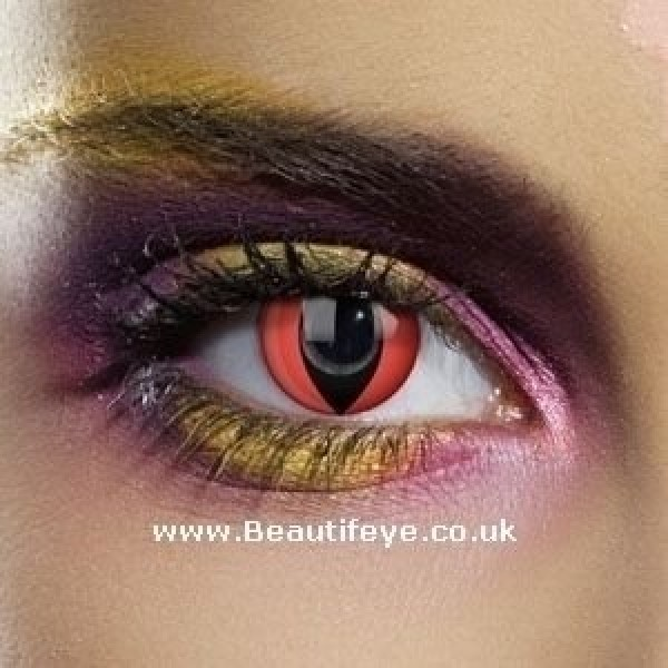 EDIT Colour Vision Red Cat Contact Lenses
