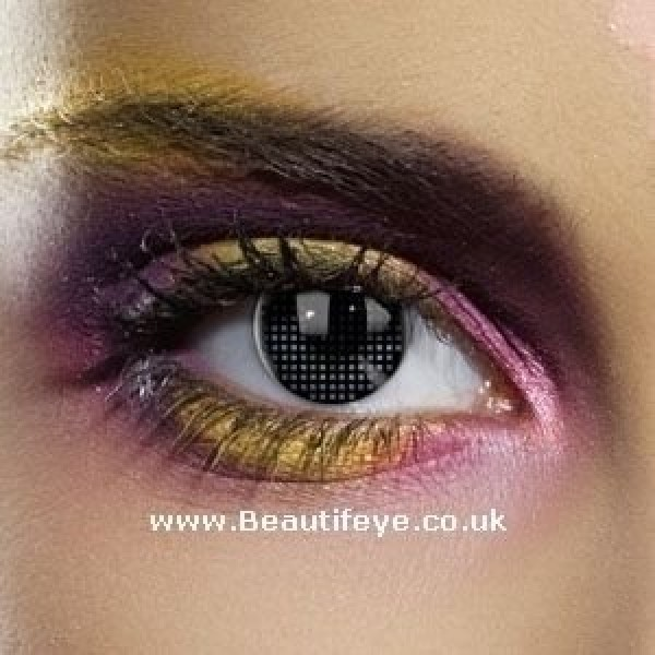 EDIT Colour Vision Black Mesh Contact Lenses