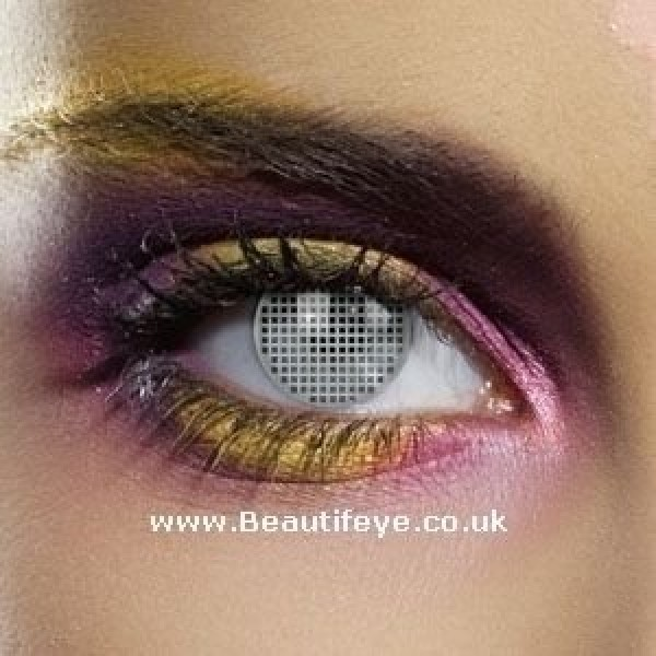 EDIT Colour Vision Grey Mesh Contact Lenses