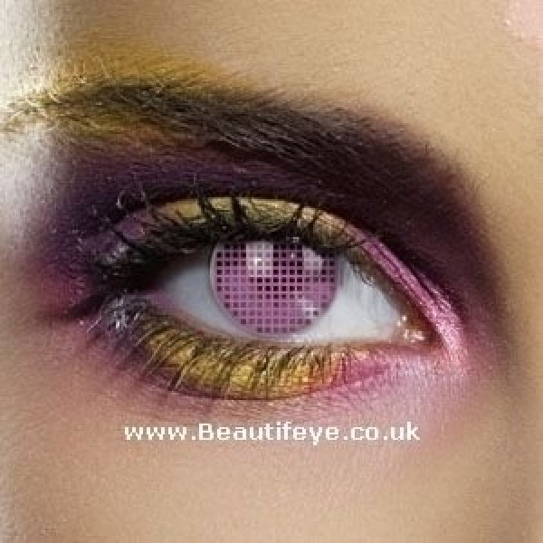 EDIT Colour Vision Pink Mesh Contact Lenses