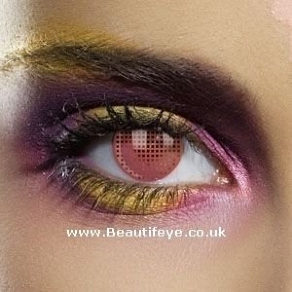 EDIT Crazy Red Mesh Contact Lenses