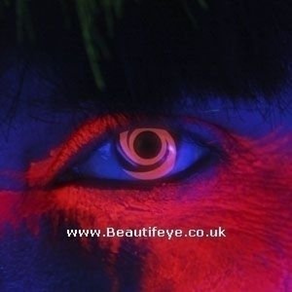 EDIT iGlow Red Swirl Contact Lenses