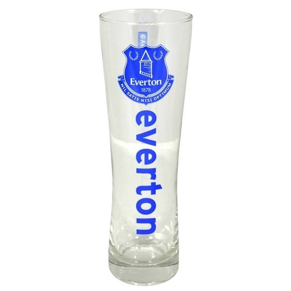 Everton Wordmark Crest Peroni Pint Glass