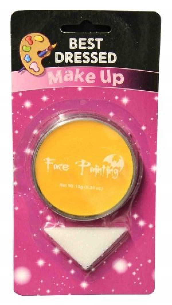 Yellow Fancy Dress Halloween Party Makeup Face Paint With Sponge