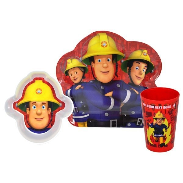 Fireman Sam 3PC Dinner Set