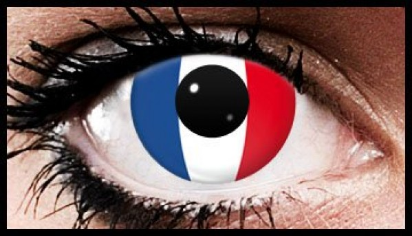 French Flag Colour Contact Lenses (90 Day)
