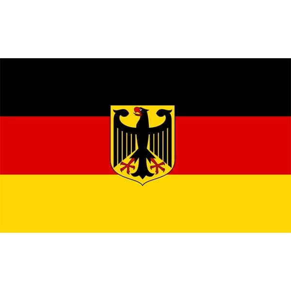 Germany National Flag (With Crest)