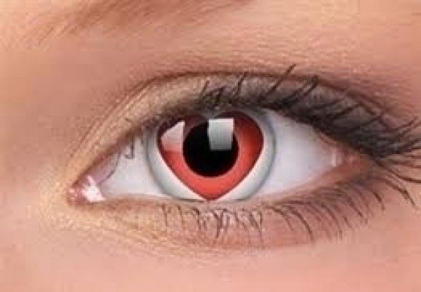 Heart Crazy Coloured Contact Lenses (1 year lasting)