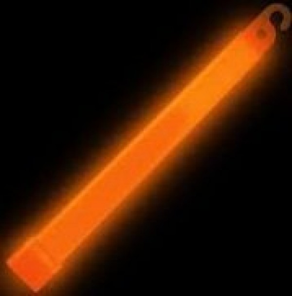 "ORANGE 6"" GLOWSTICK for Clubbing Rave Party Glow Sticks"