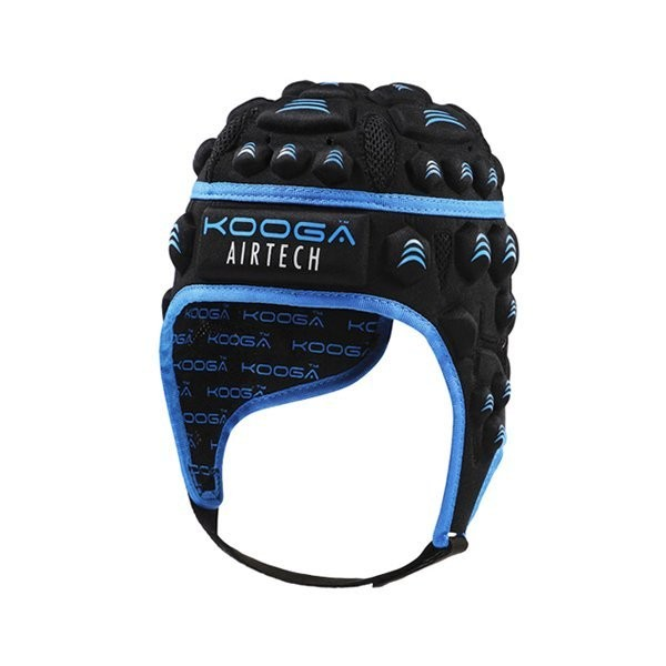 Kooga Airtech Loop II Headguard Black Blue - Large Boys
