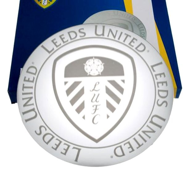 Leeds United Etched Mirror