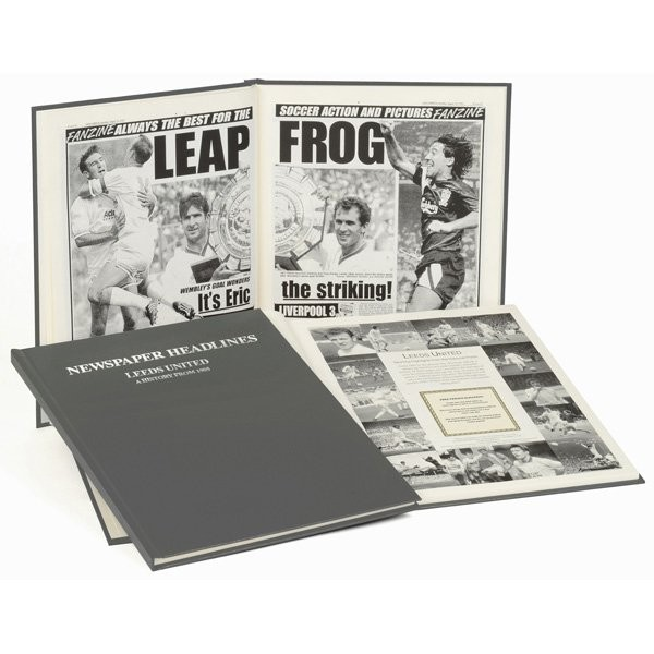 Leeds United Grey Cover Football Book