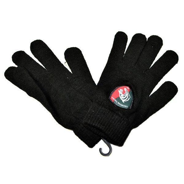 Leicester Tigers Knitted Gloves - Black