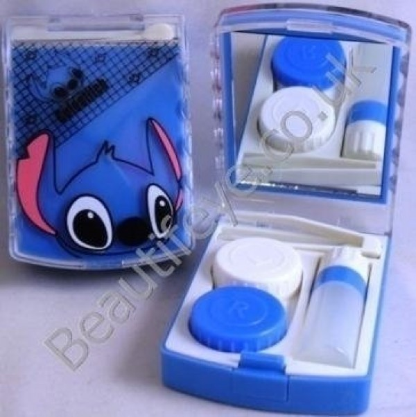 Lilo's Stitch Designer Contact Lens Travel Kit With Mirror