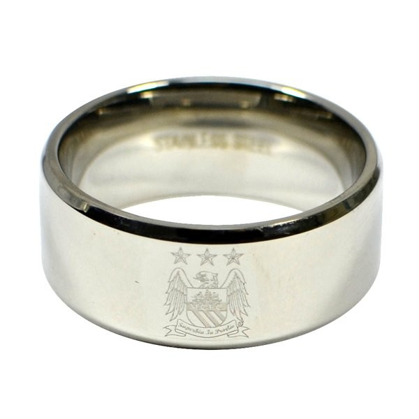 Manchester City Crest Band Ring - Large