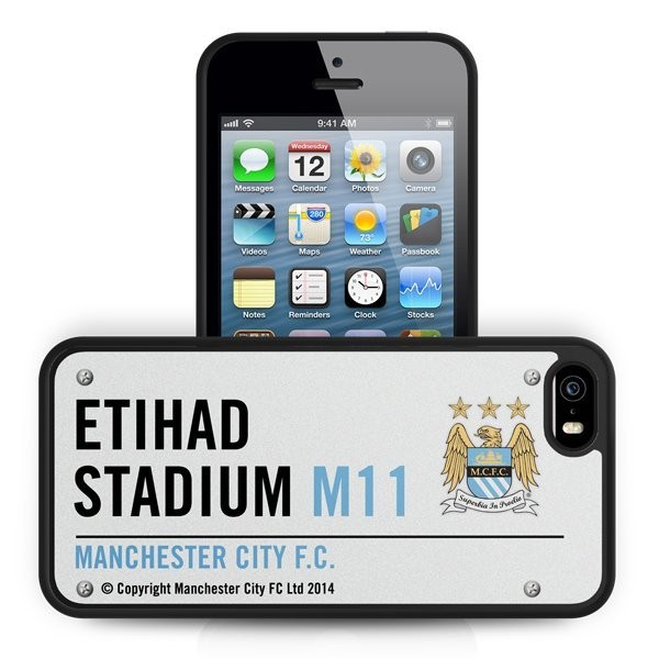 Manchester City iPhone 5/5S 3D Hard Phone Case- Street Sign