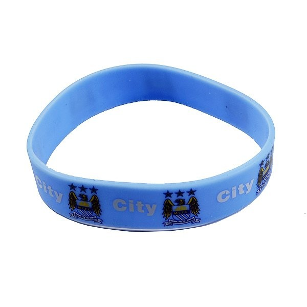Manchester City Rubber Crest Single Wristband