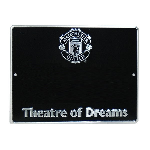 Manchester United House Number Plaque Sign