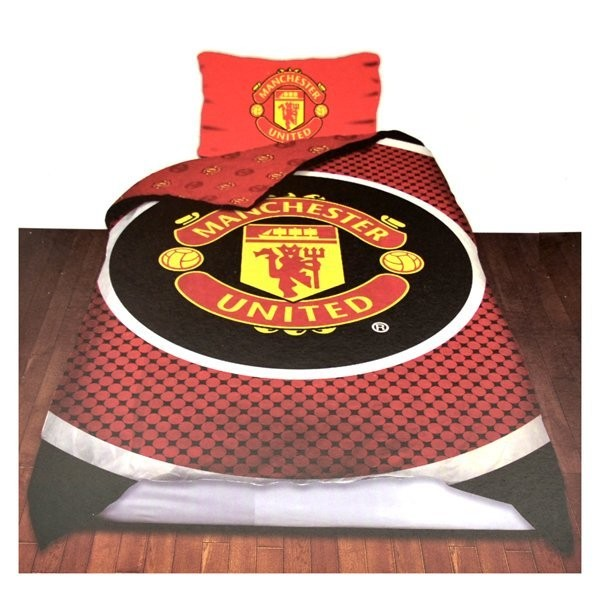 Manchester United Reversible Bullseye Single Duvet Set
