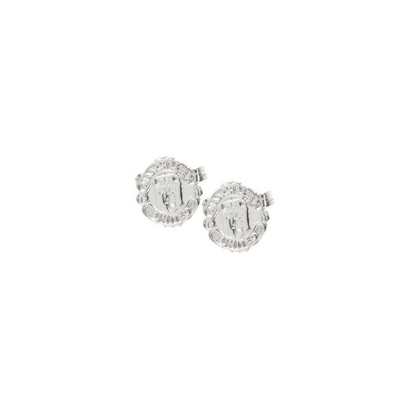 Manchester United Sterling Silver Stud Earring-Pair