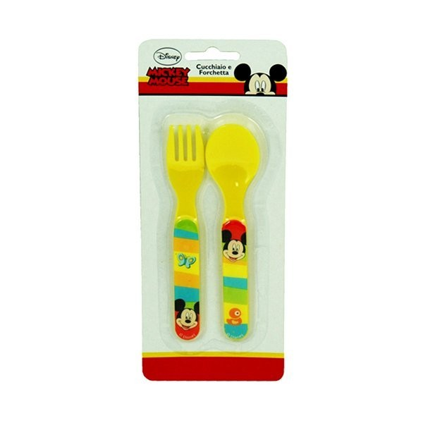 Mickey Mouse 2PC Cutlery Set