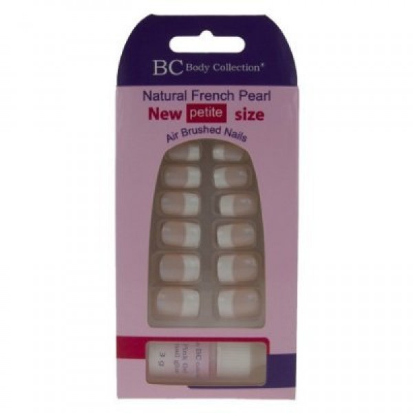 Body Collection Natural French Pearl Nails Petite Size With Glue 1079