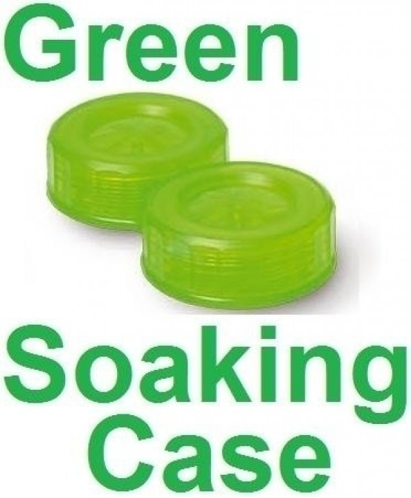 Neon Green Contact Lens Soaking/Storage case